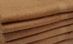 Brown 100% cotton hand towels
