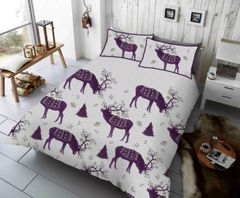 Winterberry Stag purple duvet cover