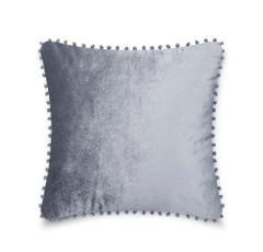 Pom pom charcoal cushion cover
