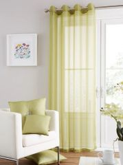 Swiss voile green eyelet curtain panel