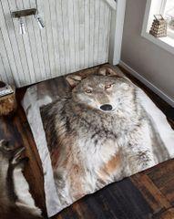 3D print Wolf mink faux fur throw / blanket