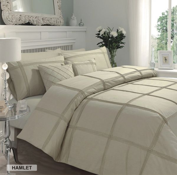 Hamlet latte cotton blend duvet cover