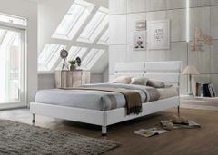 Eden white fabric bed