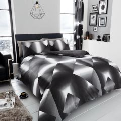 3D Triangle cotton blend duvet cover