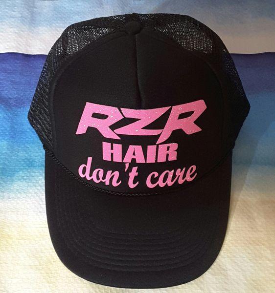 4c6196bb7df RZR Hair Don t Care Glitter Curved Bill Trucker Hat.