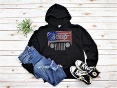 Sweatshirt Jeep Girl USA Sweatshirt Rhinestones