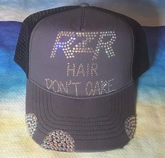 RZR Hair Don't Care Rhinestone Vintage Trucker Hat