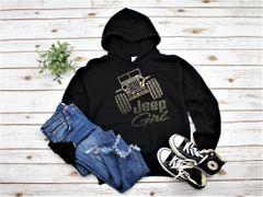 Sweatshirt Jeep Girl Rhinestones