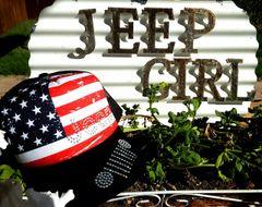 USA Flag Jeep Trucker Hat