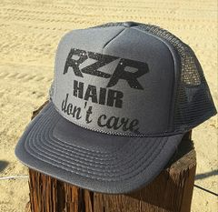 RZR Hair Don't Care Glitter Curved Bill Trucker Hat