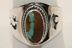 Boulder Turquoise Ring - BL3844 - SOLD