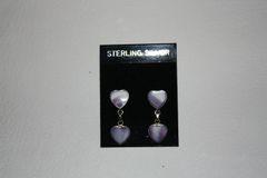 Wampum Double Heart Earrings - ER300