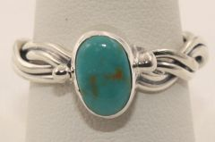 Crow Springs Mine Turquoise Ring - R1922