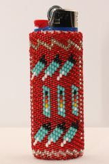 Beaded Case for Disposable Lighter - LC1142