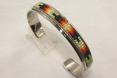 Navajo Nickel Silver Beaded Bracelet - BR1313