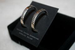 Sterling Silver Hoop Earrings - ER118