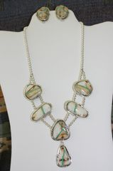 Boulder Turquoise Necklace & Earrings Set - BL421