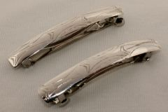 Set of 2 Silver Hair Barrettes - HC935