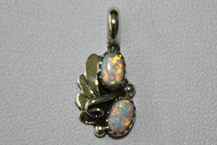 2 Stone White Opal Pendant - P8 - SOLD