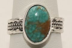 Crow Springs Mine Turquoise Ring - R1931
