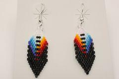 Navajo Made Beaded Earrings - ER608