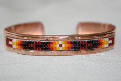 Navajo Copper Beaded Bracelet - BR1245