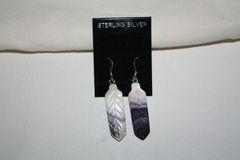 Wampum Feather Earrings - ER301