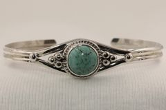 Number 8 Mine Turquoise Bracelet - N83564 - SOLD