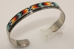Navajo Nickel Silver Beaded Bracelet - BR1310