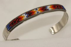 Navajo Nickel Silver Beaded Bracelet - BR1247