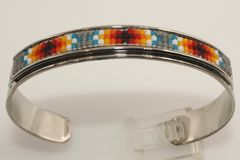 Navajo Nickel Silver Beaded Bracelet - BR1315