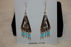 Sterling Silver Cutout Earrings - ER108 - SOLD