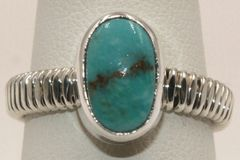 Crow Springs Mine Turquoise Ring - R1921