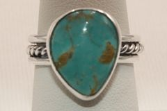 Crow Springs Mine Turquoise Ring - R247