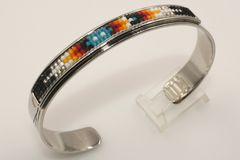Navajo Nickel Silver Beaded Bracelet - BR1312
