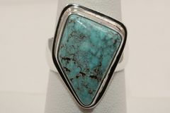 Number 8 Mine Turquoise Ring - N83121 - SOLD