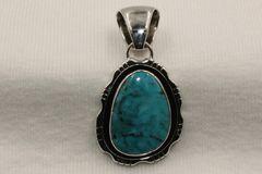 Candelaria Mine Turquoise Pendant - P4200 - SOLD