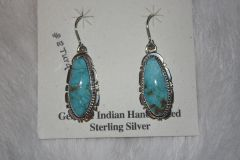 Number 8 Mine Turquoise Earrings - N8442
