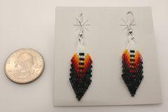 Navajo Made Beaded Earrings - ER607