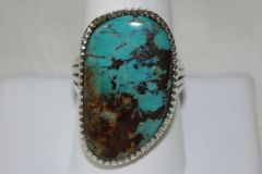 Turquoise Mountain Mine Turquoise Ring - R5520 - SOLD