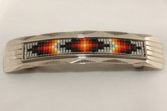 Nickel Silver Beaded Hair Barrette - HC1559 SOLD