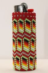 Beaded Disposable Lighter Case - LC1143