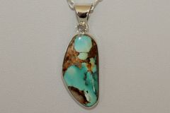 Boulder Turquoise Pendant - BL6081 - SOLD