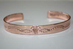 Navajo Stamped Copper Bracelet - BR397