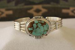 Number 8 Mine Turquoise Bracelet - N88400 - SOLD