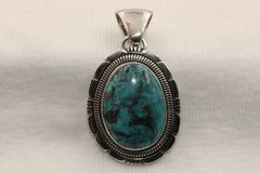 Blue Diamond Mine Turquoise Pendant - P48 - SOLD