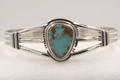Number 8 Mine Turquoise Bracelet- N85924 - SOLD
