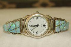 Blue Opal Inlaid Ladies Watch - W107 - SOLD