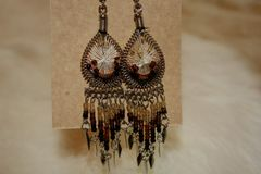 Beaded Chandelier Earrings - ER104