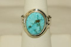 Turquoise Mountain Mine Turquoise Ring - R3244 - SOLD